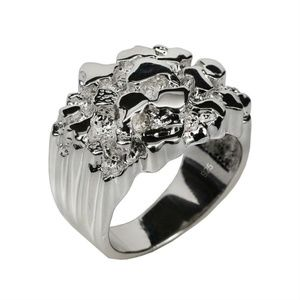 Harlembling 925 Sterling Silver Heavy Nugget Ring
